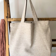 100% pure, undyed linen shoulder bag, tote bag, weekend bag, must-have accessory
