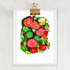 'Flowering Gum' A4 or A3 Reproduction Giclee Art Print