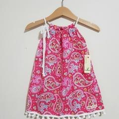 Pink Paisley Girls Pillowcase Dress  Size 0, 6, 7 & 8