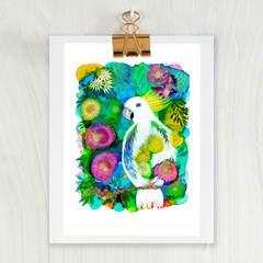 'Garden Visitor' A4or A3 Reproduction Giclee Art Print