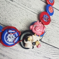 Old MacDonald - Nursery Rhyme Button Necklace - Button Earrings - Set