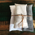 Tote Bundle! Set of 3 Organic Linen Tote Bags, 100% linen shoppers, flax, beach