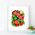 'Flowering Gum'. Large A3 Reproduction Art PRINT of my mixed media painting