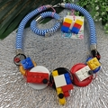 Lego and Button Mix - Jewellery - Earrings - Necklace