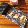 Gold Velvet Tarot Bag and Reading Cloth - Oracle Card Holder