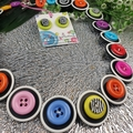 Licorice Allsorts- Black white- Button Necklace - Earrings