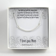 Mother Of The Bride Necklace,Pearl Bar Necklace,Mother Of The Bride Gift,Wedding