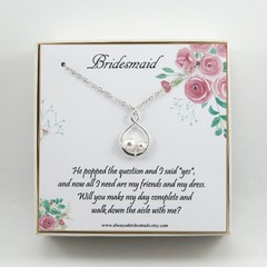 Bridesmaids Gift Necklace,Will You Be My Bridesmaid Necklace,Bridesmaids Gift,We