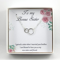 Sister In Law Necklace,Gift For Sister In Law,Mother daughter necklace,Step Sist