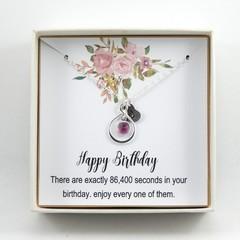 Happy Birthday Gift,Birthday Necklace,Birthday Gift For Girls,Pesonalized Initia