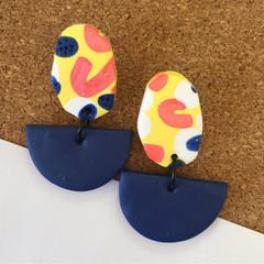 Yellow Party Earrings