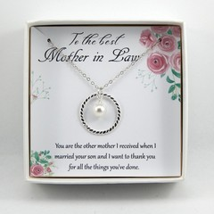 Mother In Law Necklace,Future Mother Gift Necklace,Gift From Bride,Mother Weddin