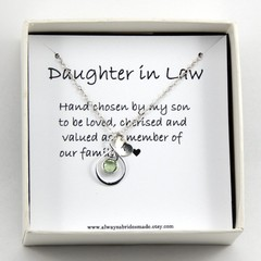 Daughter In Law Necklace,Daughter In Law Gift, Daughter In Law Wedding Gift, Dau