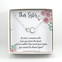 Sisters Necklace,Necklace For Sister,Sisters Wedding Gift,Gift From Sister,Daugh