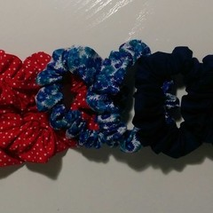 Scrunchies - Red White and Blue Bundle