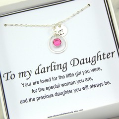 Daughter Personalized Necklace,Gift for Daughter,Daughter Necklace,Daughter Bith