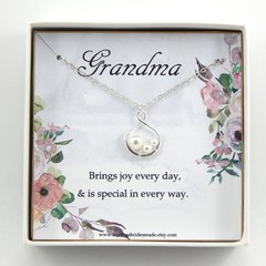 Grandmother necklace, Grandmother gift,Grandmother of the bride gift,Grandma Bir