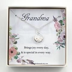 Grandmother necklace, Grandmother gift,Grandmother of the bride gift,Grandma Bir