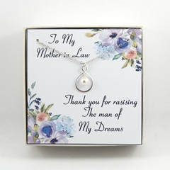 Thank you for raising the man of my dreams necklace,Mother of the groom gift,Gif