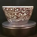 Scraffito ceramic bowl