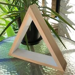 White Triangle Display Shelf
