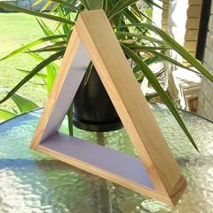 Lilac Triangle Display Shelf