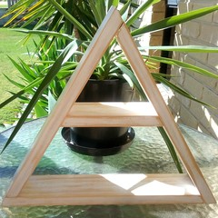 Triangle Display Shelf - White Wash