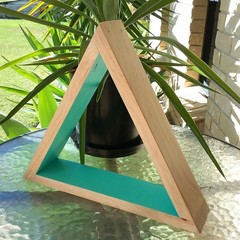 Mint Triangle Display Shelf