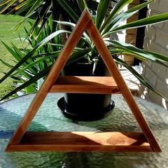 Triangle Display Shelf - Oak