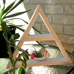 Triangle Display Shelf - White Colour Block