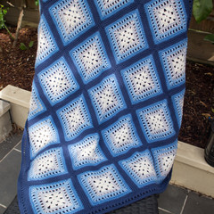 Fretwork Design Baby Blanket in Beautiful 100%  Cotton