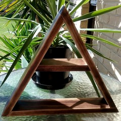 Triangle Display Shelf -Brown Japan
