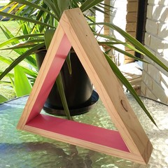 Pink Triangle Display Shelf