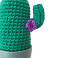 Crochet Cactus with Purple Flowers - Large, Housewarming Gift, Unique Home Decor