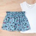 Size 3 - Skirt - Floral - Blue - Pink -  Retro - Cotton -