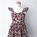 Malibu Dress - Animal Print - Cotton - Ruffle Sleeves - Sizes 1-6