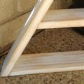 Triangle Display Shelf - White Wash
