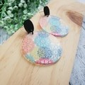 Blooming Daisy -  Dangle Earrings - Acrylic - Rainbow