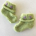 Navy sheep Booties - Hand knitted in Pure Wool