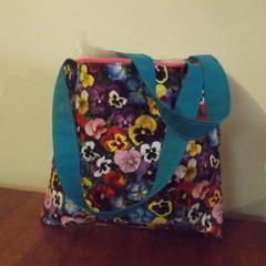 Girls Handmade Handbag (Pansy Design)