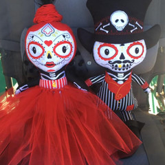 Day Of The Dead Doll - Bride or Groom