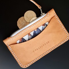 Leather Zip Purse with Card Pocket