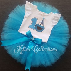 ~ Cookie Monster 1st Birthday Tutu Set ~