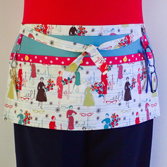 Craft Apron - teachers hobby sewers quilters apron with 4 pockets
