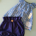 Girls Navy High Waisted Bloomers / Britches Size 0000, 000 & 00