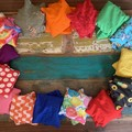 Classroom Set of 30 Bean Bags - mix of colours & patterns