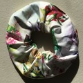 Hair Scrunchies Set of 2 Classy Natural & Floral