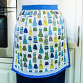 Half Apron - retro 50's ladies lined apron - Kiss the Cook