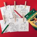 24 Day Advent Calendar - Christmas Countdown - Paper Envelope (Colour Me )