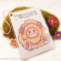 "Yeti artist bear, monster plush, peach and pink yeti  ""Poggles"""